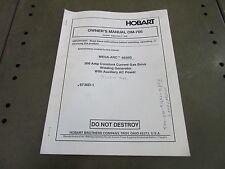 Hobart Mega-Arc 4030G Owners Manual Welder Generator