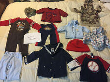 BABY TODDLER CLOTHES LOT OLD NAVY OSHKOSH JACKET CARTERS SHIRT PANTS CAMO HAT