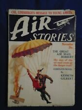 Air Stories November 1927  Scarce 4th Issue