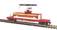 MTH G-Gauge Operating Flying Red Cross Helicopter Car 70-79012