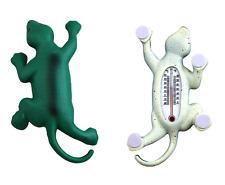 "Lizard Gecko Shape Outdoor Window Thermometer Self Adhesive Legs 6.5"" Long"