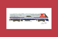 "Amtrak Veterans P42DC #42 11""x17"" Matted Print by Andy Fletcher signed"
