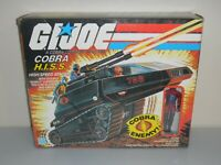 Lot 1983 GI Joe Cobra HISS Sentry Tank & Driver w/ Blueprints in Box *Complete