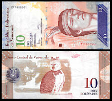 Venezuela 10 Bolivares 2014 Series Z8 REPLACEMENT NOTE @ Crisp UNC