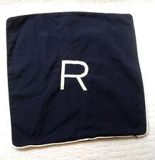 "NEW William Sonoma Personalized "" R "" outdoor Sunbrella pillow cushion retail$69"