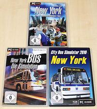 3 PC SPIELE SAMMLUNG - NEW YORK BUS SIMULATOR 2010 SIMULATION HELDEN TAXI