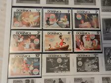 Set of 7 Disney Stamps 1980 Christmas from Dominica Peter Pan, Mnh