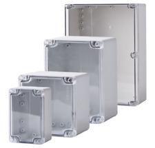 Allbro Enlec Polycarbonate Enclosure - Grey Base + Clear Lid - 80x80x55