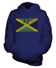 JAMAIKA KRITZELTE FLAGGE UNISEX KAPUZENPULLOVER HOODIE PULLI HOODY HERREN DAMEN