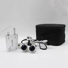 2.5X Denti Binoculari Occhiali Loupes ottico Glasses420mm +LED Headlamp New