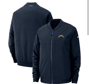 Los Angeles Chargers Nike Sideline Bomber Full-Zip Jacket - Navy Size L