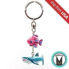 Japan Tokyo Disney Sea Nemo & Friends SeaRider Destiny Whale Shark Keychain Cute