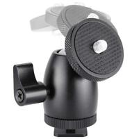 1/4'' Screw Tripod Mini Ball Head Hot Shoe Adapter Camera Cradle For Camera