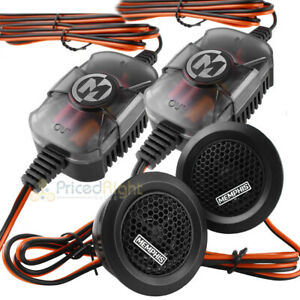 """Memphis Audio 1"""" Component Tweeter Set Crossovers 100W Max Power Reference Prx10"""