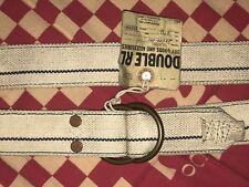 2010 NWT RRL Ralph Lauren Double RL Vintage Canvas  Nautical Leather Belt 30 28