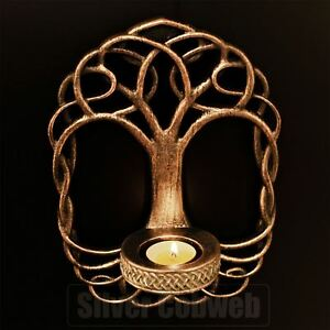 Tree Of Life Wall Sconce Tealight Candle Holder Pagan Wiccan Gothic Celtic Knot