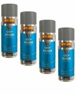 4x Hycote XUK03015 Grey Primer Spray Paint 400ml Aerosol Paint Preparation