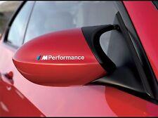 2x BMW M Performance seiten spiegel Weiß aufkleber decal E90 E70 F10 F20 F30