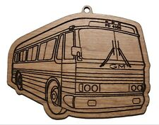 Gm Pd4106 Bus Highway Vintage Hanging Ornament Laser-cut Wood Collectible