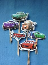 Cupcake Cake Toppers Cars Lightning McQueen 24pcs