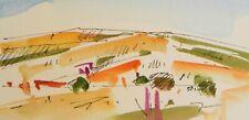JOSE TRUJILLO ORIGINAL Watercolor Painting Small 3x6 Desert Mountain Landscape