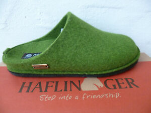 Haflinger Ladies Slippers House Shoes Mules Green New