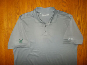 UNDER ARMOUR SAND VALLEY GOLF SHORT SLEEVE GRAY POLO SHIRT MENS LARGE EXCELLENT
