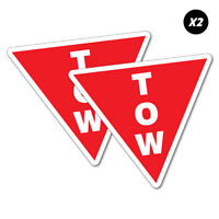 2X Tow Point Motor Racing Sticker Decal JDM Car Drift Vinyl Funny Turbo #6781EN