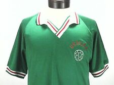 Vintage Soccer Polo Mens Shirt Jersey Green Red White URGILES Large L Made USA