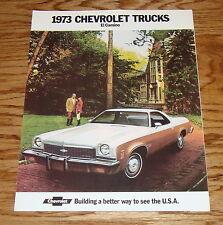 1973 Chevrolet El Camino Foldout Sales Brochure 73 Chevy