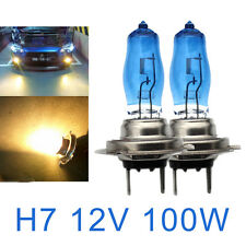2 PCS H7 6000K Xenon Gas Halogen Headlight White Car Light Lamp Bulbs 100W 12V