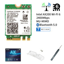 Intel WiFi 6 AX200 Wireless Network Card 802.11ax MU-MIMO 160MHz Bluetooth 5.0