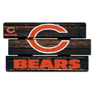 "CHICAGO BEARS LOGO WOOD SIGN 14""X25'' BRAND NEW WINCRAFT 👀 🏈"
