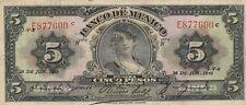 Mexico: $5 Pesos La Gitana 26 de Junio, 1940 Banco de Mexico Circulated Note.