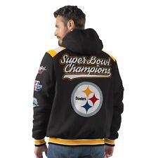 Pittsburgh Steelers 6 Time Super Bowl Champions Hooded Bullpen Fleece Jacket 6bcbdde59