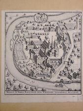 Gravure ancienne Monast Mariae Maristellae également connu sous le nom Wettingen