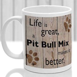 Pit Bull Mix dog mug, Pit Bull Mix dog gift, ideal present for dog lover