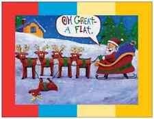 20 CHRISTMAS Reindeer Flat SANTA Humorous Funny  FLAT Cards ENVELOPES & SEALS