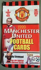 Manchester United FC 5 Football Trading Cards Unopened 1999 Treble Winning Year.