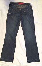 GUESS JEANS WOMENS BLUE JEANS LOW RISE FLARE BOTTOM SIZE 24 EUC