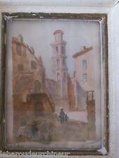 ancienne peinture aquarelle Corse début 20èmes