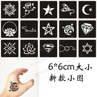 Pro Henna Tattoo Stencils Airbrush Stencil Glitter Temporary Tattoo Body Mehndi