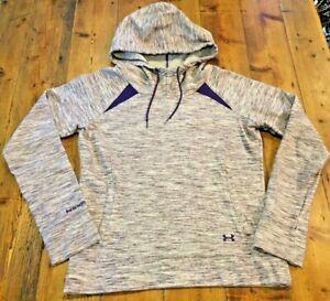 UNDER ARMOUR Women's Purple Storm Hoodie Semi Fitted Sweatshirt- Small- Ret $60