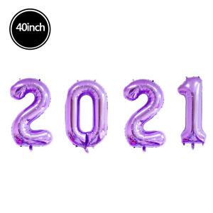 16/32/40 Inch Multi-Color 2021 Digital Aluminum Foil Balloon Party Decoration 1