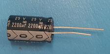 Capacitor, Aluminum Electrolytic, 2200uF, 25V, ELNA, RE2-25V222M, 50 Pcs