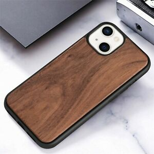 Wooden+Soft TPU Back Case For iPhone 13 /13 Pro Max 12 Mini Bamboo Wood Cover