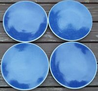 GROUP  of  4  SASAKI  COLORSTONE  SAPPHIRE   7 1/2 inch   Salad Plates