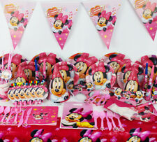 Kids Birthday Party Decor Baby Event Party Supplies Cartoon Minnie Mouse 78-Pcs