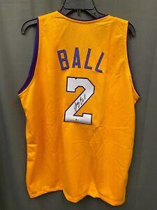 Lonzo Ball #2 Signed Lakers Basketball Jersey Autographed AUTO BAS COA Sz XL