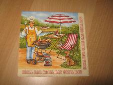 3 Servietten/Napkins, Barbeque, Grillen im Garten, Sommer